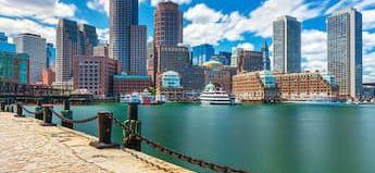 Boston skyline and harbor